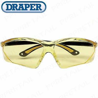 DRAPER LIGHT ENHANCING ANTI-MIST SAFETY GLASSES Specs Spectacles Light Work UV