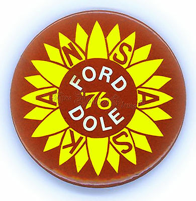 "*  Fab ~  ""  FORD - DOLE / KANSAS '76 ""  ~  1976  Campaign  Button"