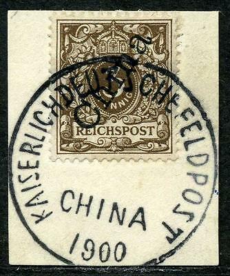 DP China Mi 1 IIa  Luxusbriefstück  Kaiserlich Dt. Feldpost China 1900