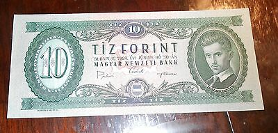Nice Hungary 10 Forint Unc Bank Note 1969