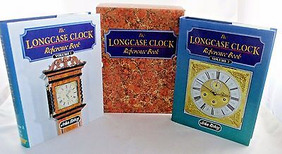 The Longcase Clock Reference Book Volumes 1 and 2 Slipcase John Robey NICE!