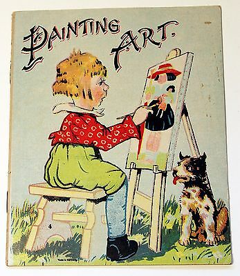 Vintage Circa 1900 Advertising Childrens Booklet PAINTING ART Color Lithographs