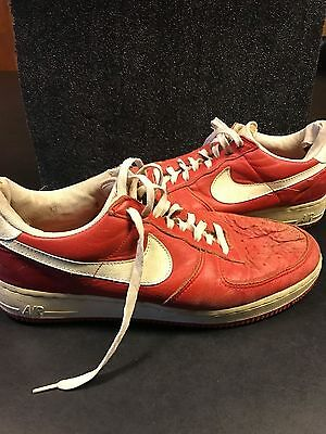 Vintage1988 Nike Air Force one red leather low size 13,vintage NIKE AIr Force 1