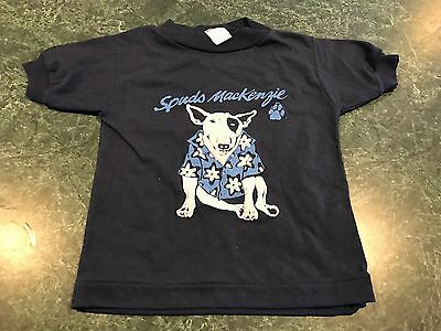Vintage 1980's SPUD MACKENZIE Navy Blue T-Shirt INFANT Size 4T *VERY RARE*