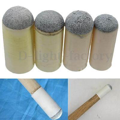 Quick Fit Push On Blue Leather Tips For Replacement Pool Snooker Billiards Cues
