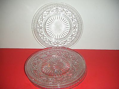 """Imperial CAPE COD Clear Glass 8 1/4"""" Salad Plates (Set of 4)"""