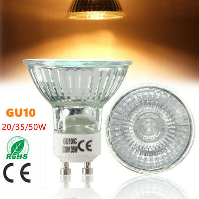 20W 35W 50W GU10 Bright Warm White Halogen Lamp For Home Light Bulbs New
