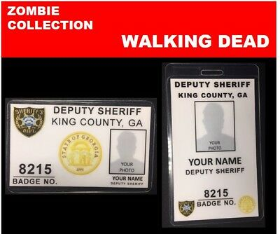 zombie ID collection..WALKING DEAD...2 Card Set << king county SHERIFF'S DEPT.>>