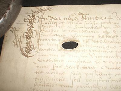 1606 James Vi, Ornate Latin Vellum Deed, Carlowrie, Edinburgh, Scotland, A-Grade