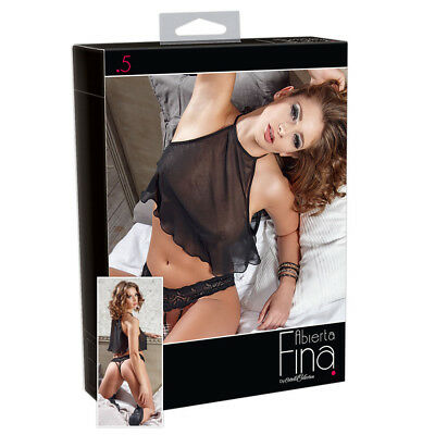 Seducente Set colore nero con Top e perizoma Albierta Fina sexy woman ligerie