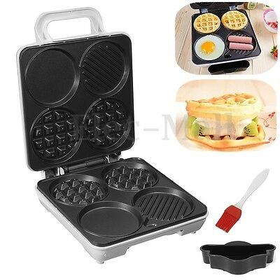 220v 1000w Waffle Maker Pan Mold Commercial Egg Breakfast Iron Kitchen Nonstick