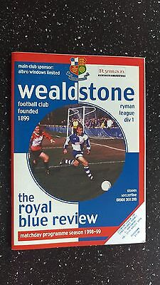 Wealdstone V Northwood 1998-99.