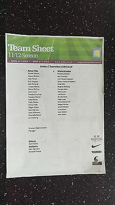 Aston Villa Ladies V Watford Ladies 2011-12.