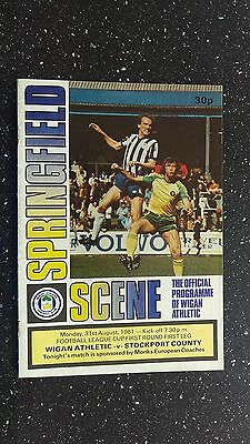 Wigan Athletic V Stockport County 1981-82