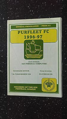 Purfleet V Kingstonian 1996-97