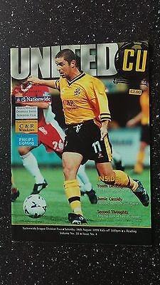 Cambridge United V Reading 1999-00