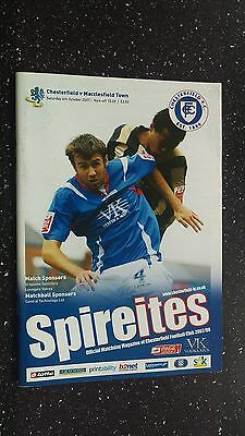 Chesterfield V Macclesfield Town 2007-08