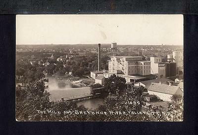 1930 Valley City ND OCCIDENT FLOUR MILL Sheyenne River Real Photo Postcard RPPC