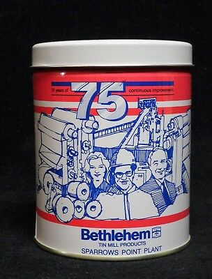 * BETHLEHEM STEEL ** 75 Year Anniversary Tin ** SPARROWS POINT * Collectable Tin