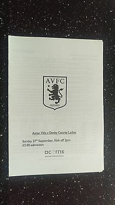 Aston Villa Ladies V Derby County Ladies 2009-10.