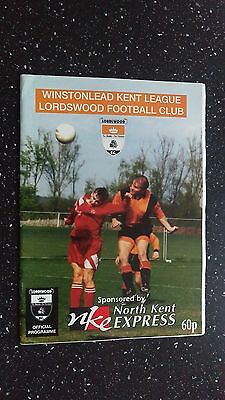Lordswood V Crockenhill 1997-98