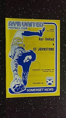 Ayr United V St Johnstone 1981-82