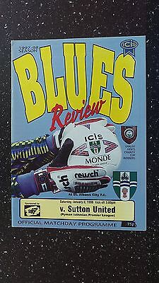 Bishops Stortford V Sutton United 1997-98.