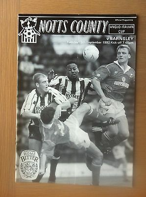 Notts County V Barnsley 1992-93