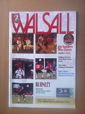 Walsall V Burnley 1996-97