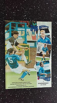 Chesterfield V Scarborough 1993-94
