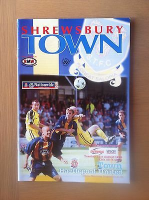 Shrewsbury Town V Hartlepool United 1999-00