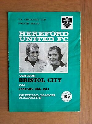 Hereford United V Bristol City 1973-74