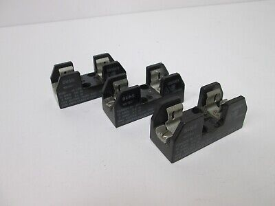 Lot of 3 Buss IB0001 Fuse Holders, Voltage Rating: 250V, Current Rating: 30A