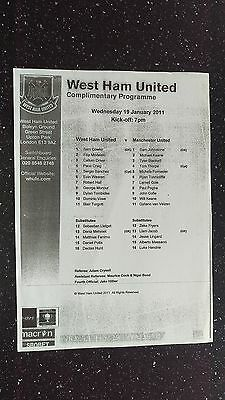 West Ham United Reserves V Manchester United Reserves 2010-11