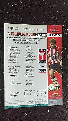 Southampton Saints V Barnet Ladies 2003-04