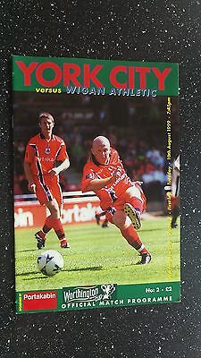 York City V Wigan Athletic 1999-00