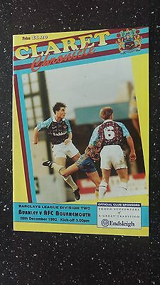 Burnley V Bournemouth 1992-93