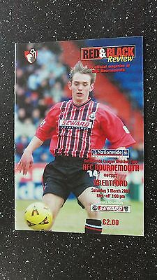Bournemouth V Brentford 2000-01