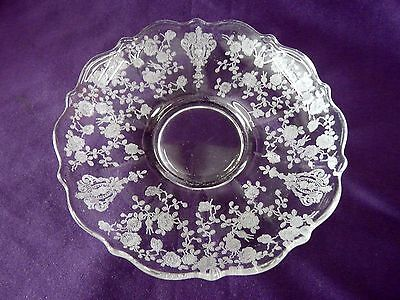 Cambridge Crystal Rose Point Pattern Saucer Only 6""