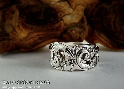 Very Pretty Ethereal  Norwegian  Silver Pickle Fork Ring A Perfect Birthday Gift