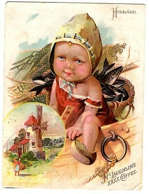 Vintage Victorian Trade Card McLaughlin's Coffee Advertising Holland