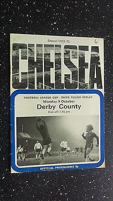 Chelsea V Derby County 1972-73.