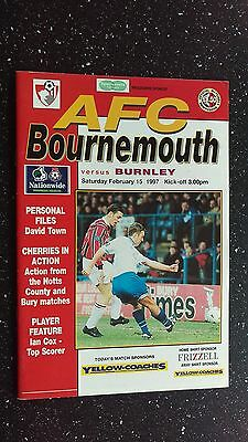 Bournemouth V Burnley 1996-97