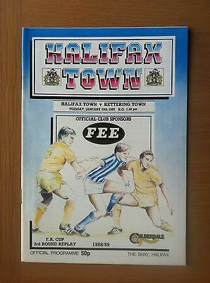Halifax Town V Kettering Town 1988-89