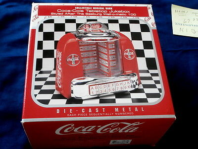 Coca Cola Tabletop Jukebox~ Seebugh Wall O Matic 100 ~ Mint~ ~Collectables