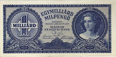 1946 1 One Quadrillion Pengo Hungary Currency Unc Banknote Note Money Bill Cash