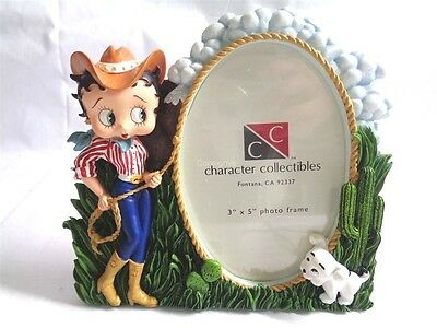 "Character Collectibles Betty Boop Cowgirl 3""x5"" Picture Frame"