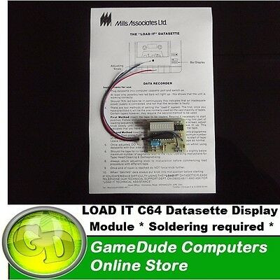 LOAD IT C64 Datasette Display Module for C2N/1531 unit Soldering required [F03]