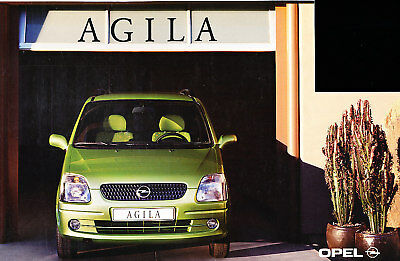 2000 Opel Agila German Prospekt Sales Brochure