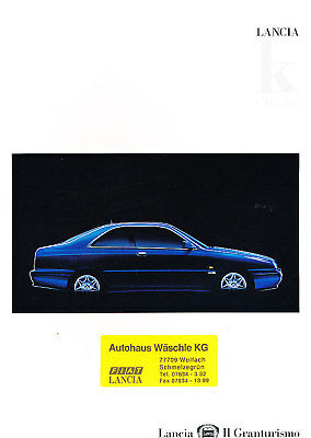 1997 1998 Lancia K Coupe German Prospekt Sales Brochure